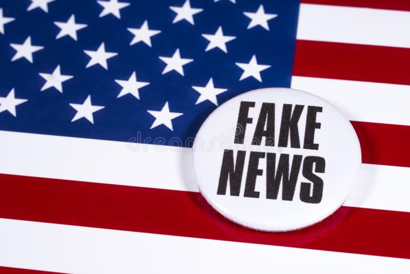 FAKE NEWS aux États-Unis photographie stock