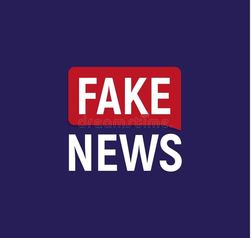 Fake News broadcast logo. Breaking politics news banner. Newspaper cover vector illustration on dark blue background. Fake News broadcast logo. Breaking stock illustration