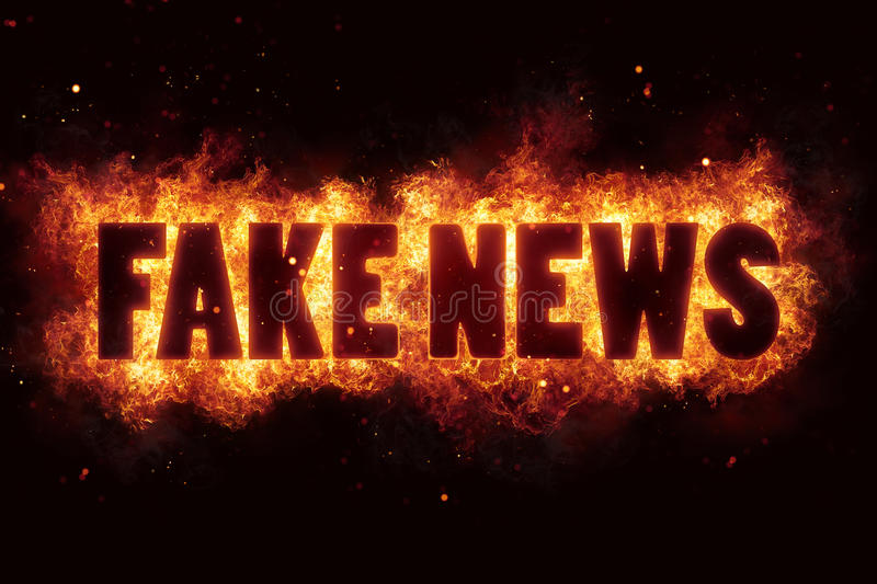 Download Fake News Fire Text Flame Flames Burn Burning Hot Explosion Stock Illustration - Image: 88729707