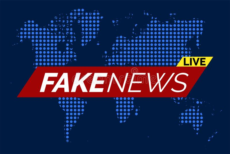 Fake news live stock illustration