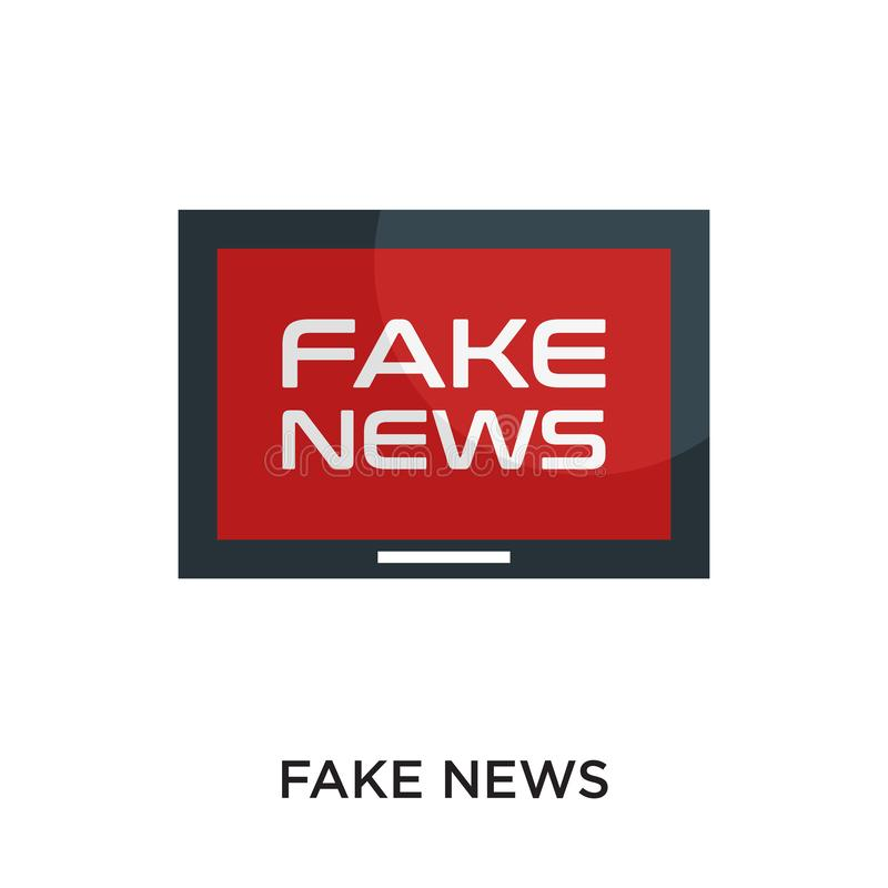 fake news logo isolated on white background for your web, mobile stock illustration