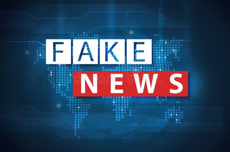 Fake news and misinformation concept vector illustration