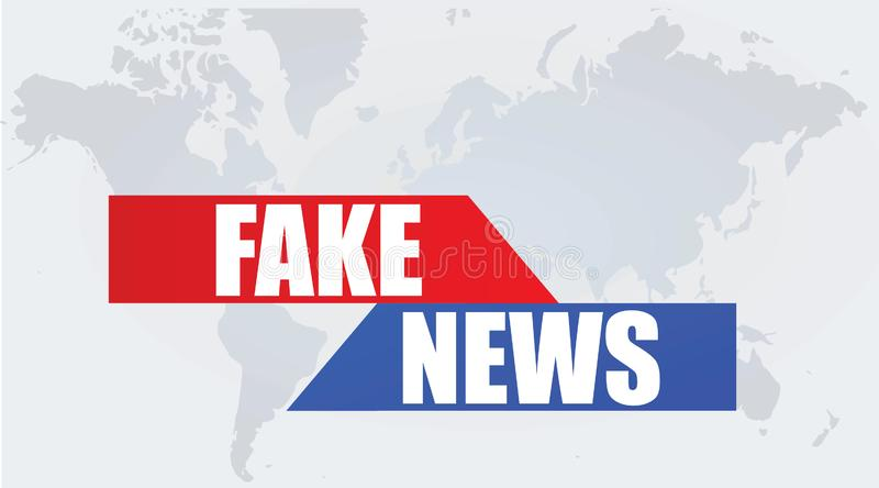 Fake news poster vector illustration