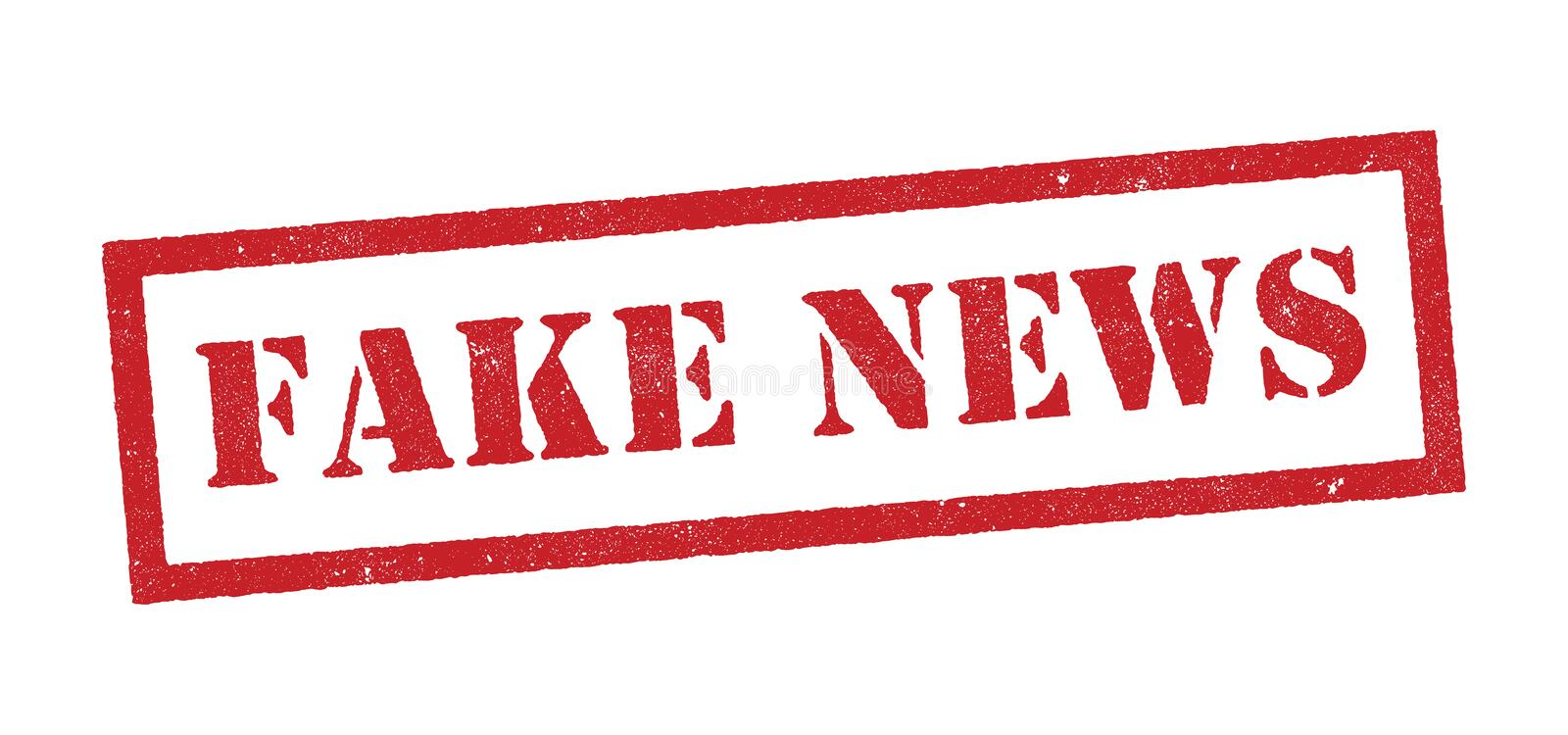 Fake News Red Stamp Stock Vector Illustration Of Scoop 88194792