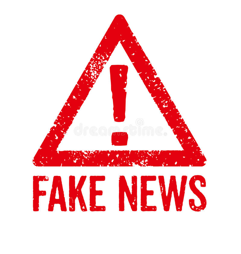 Fake News. A red stamp on a white background - Fake News stock illustration