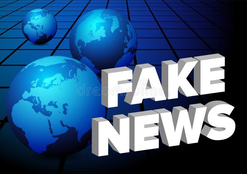 Fake News royalty free illustration