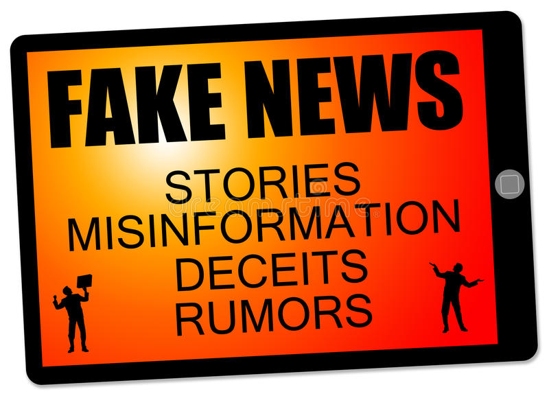 Fake news stories. Lots of fake news, misinformation and rumors to be found on internet and social media vector illustration