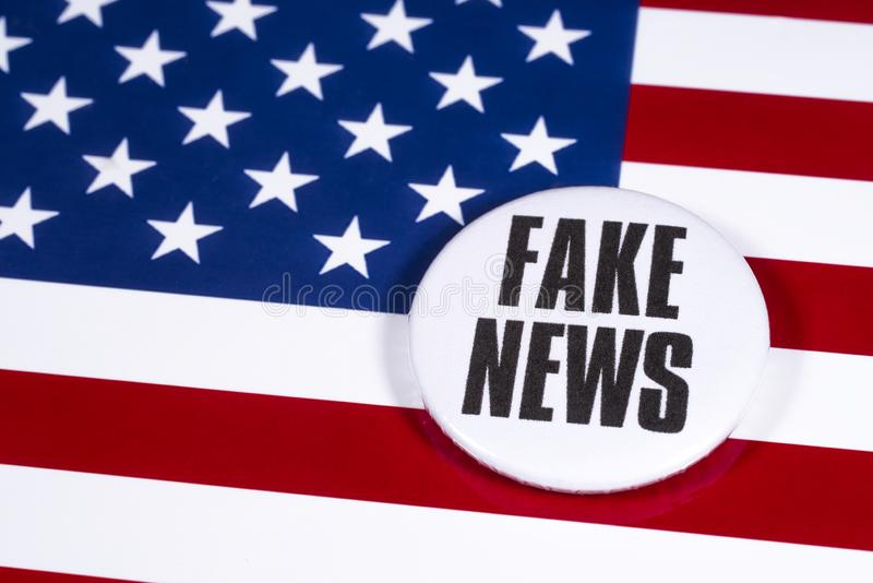 FAKE NEWS in the USA stock photo. Image of trash, fake - 164641772