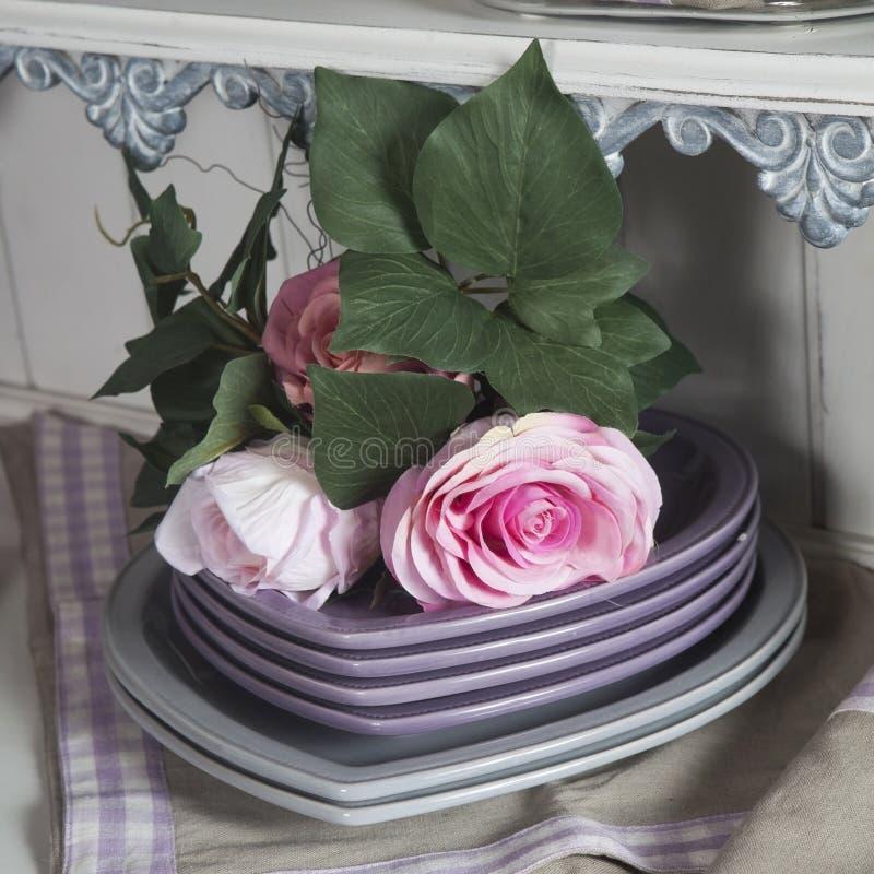 Fake pink rose flower royalty free stock image