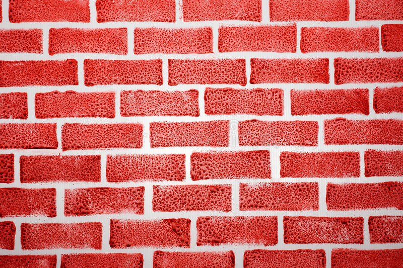 Fake red brick background stock illustration image of for Fausse brique decorative