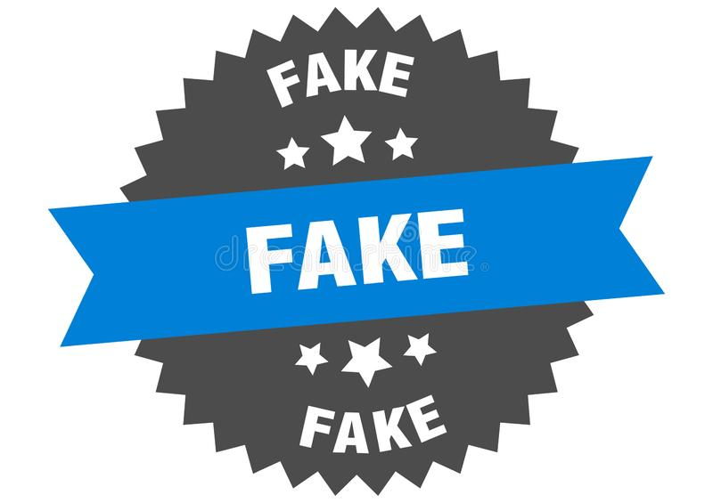 Fake. Sign.  circular band isolated label. sticker vector illustration