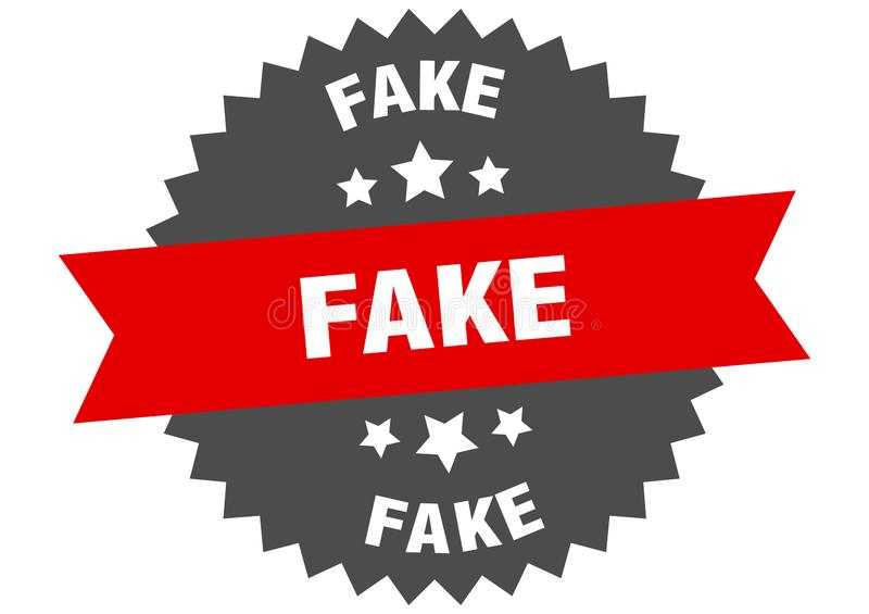 Fake. Sign.  circular band isolated label. sticker stock illustration