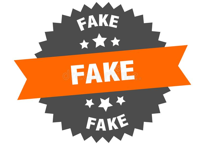 Fake. Sign.  circular band isolated label. sticker royalty free illustration