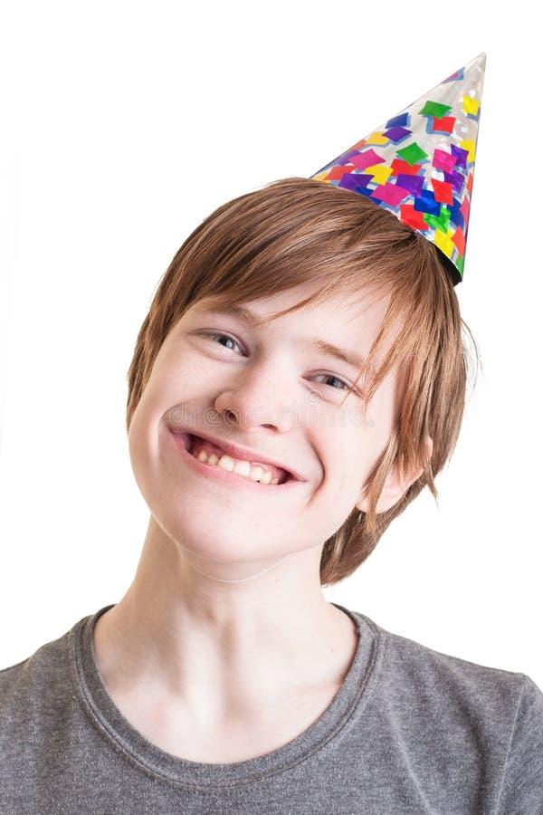Fake smile. Teenager with a fake smile royalty free stock photo