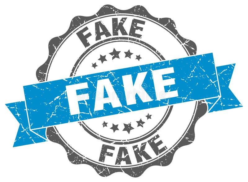 Fake stamp. Fake grunge stamp on white background stock illustration