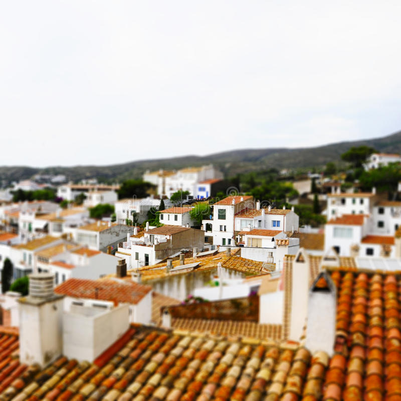 Download Faked Tilt Shift Of View Of Cadaques Stock Photo - Image: 27058604