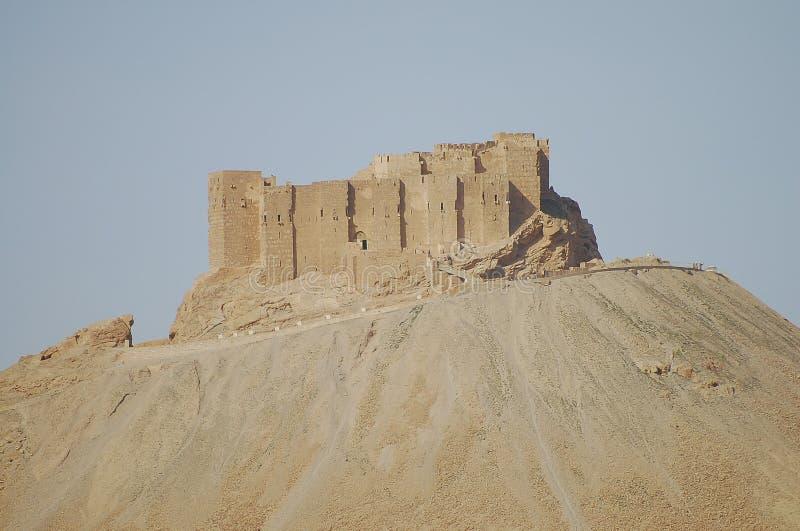 Fakhr-al-buller al-Maanislott - Palmyra fördärvar - Syrien arkivbild