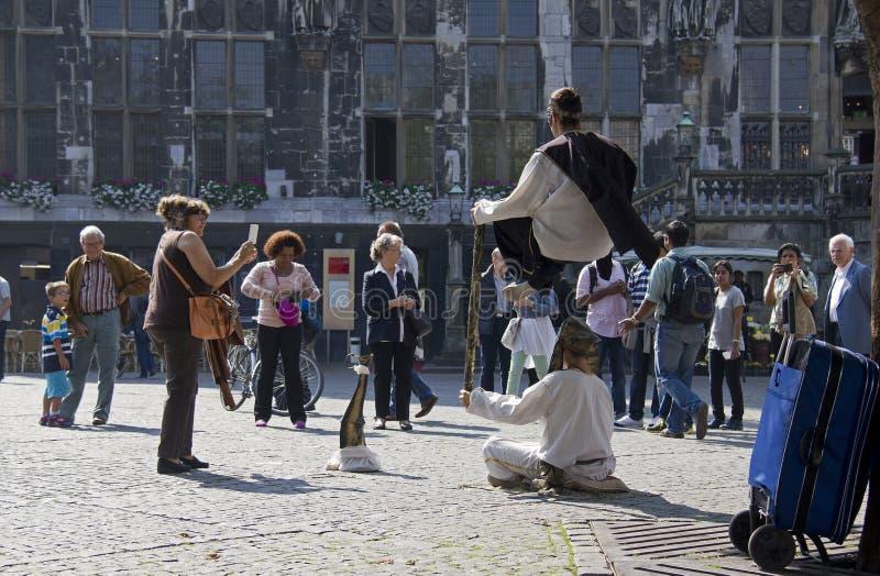 Fakir akt w Aachen obraz royalty free