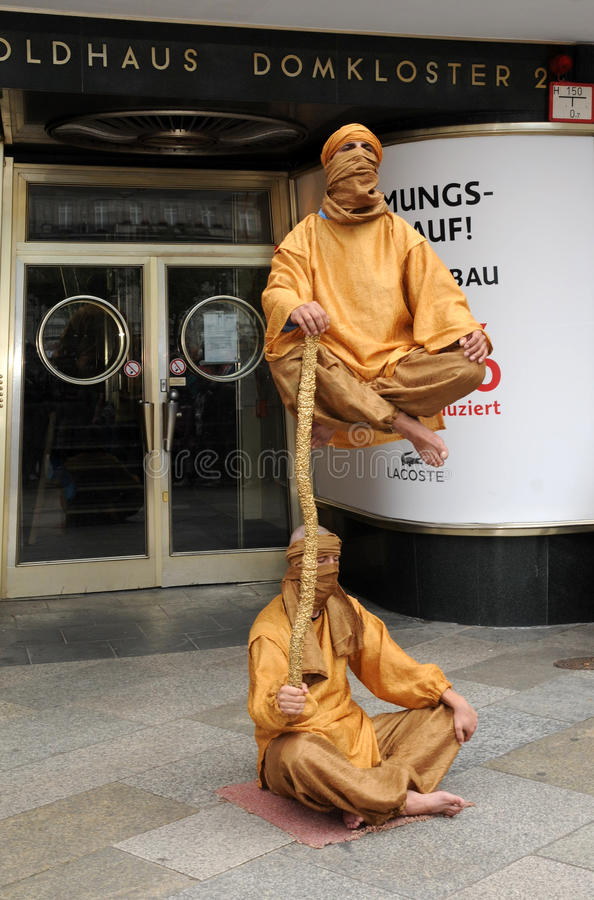Download Fakir living statues editorial photo. Image of male, travel - 27951281