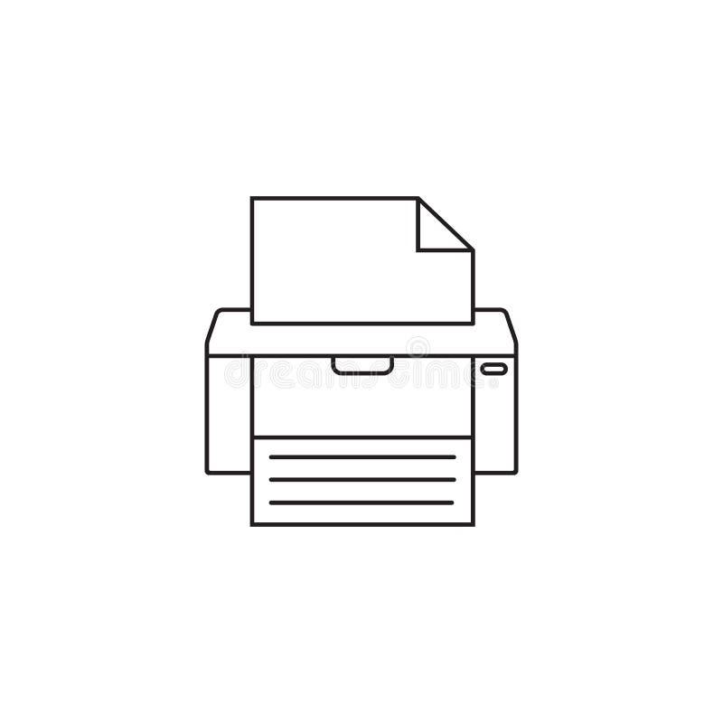 Faks kreskowa ikona, drukarka, urządzenie elektroniczne, royalty ilustracja