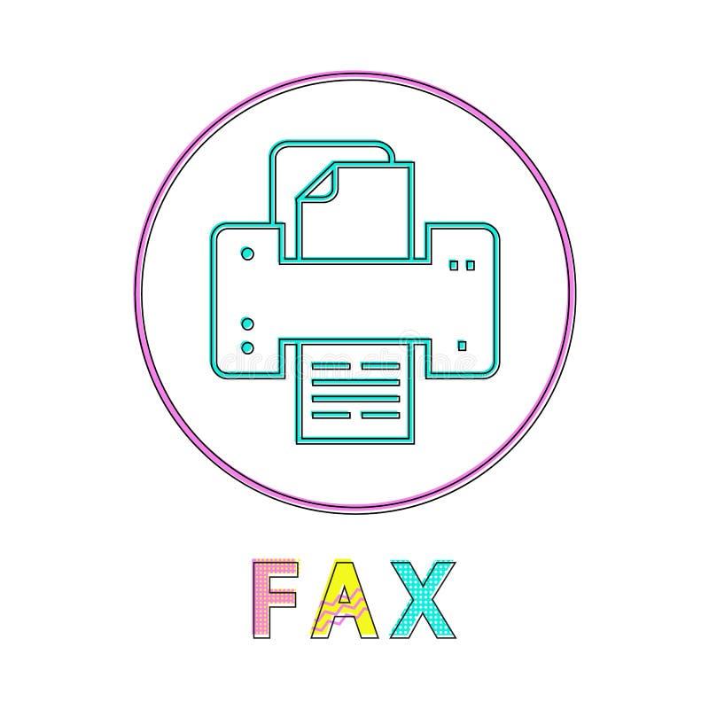 Faks maszyny technologii ikony wektoru ilustracja ilustracji