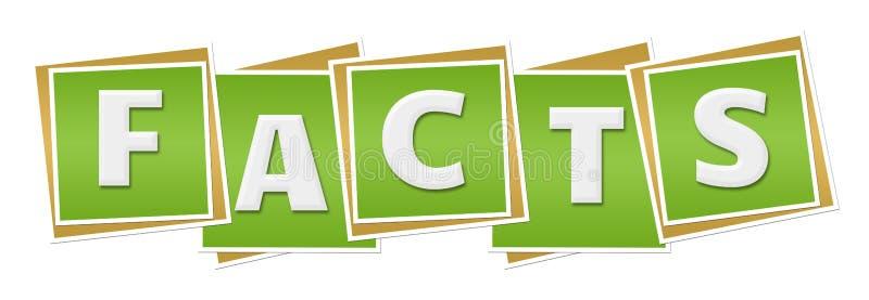 Fakta gör grön kvarter royaltyfri illustrationer