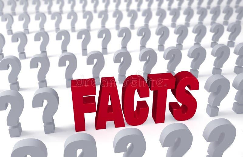 Fakta svarar frågor stock illustrationer