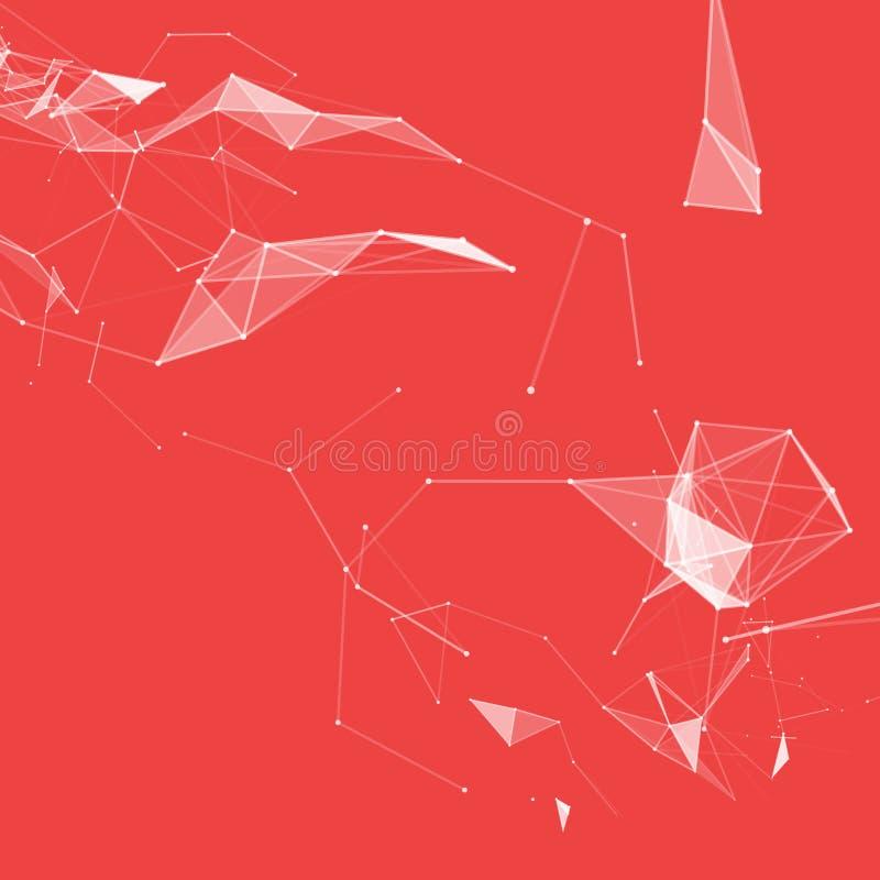 Faktisk abstrakt bakgrund med partikeln, molekylstruktur genetiska och kemiska sammansättningar Idérik vektor avstånd vektor illustrationer