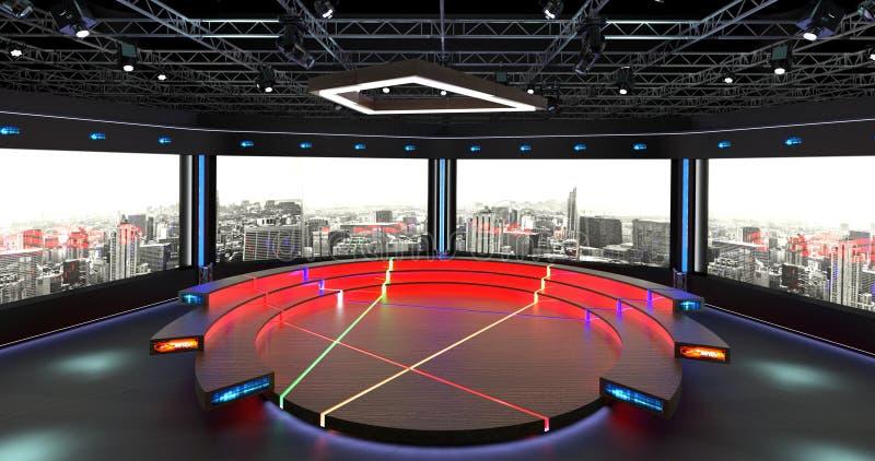 Faktisk bakgrund 2 för uppsättning 2 för TVstudiopratstund vektor illustrationer