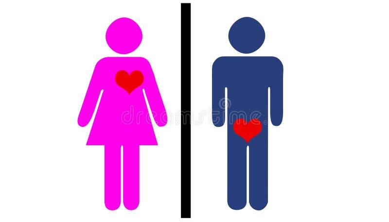 faktiskt förälskelse stock illustrationer