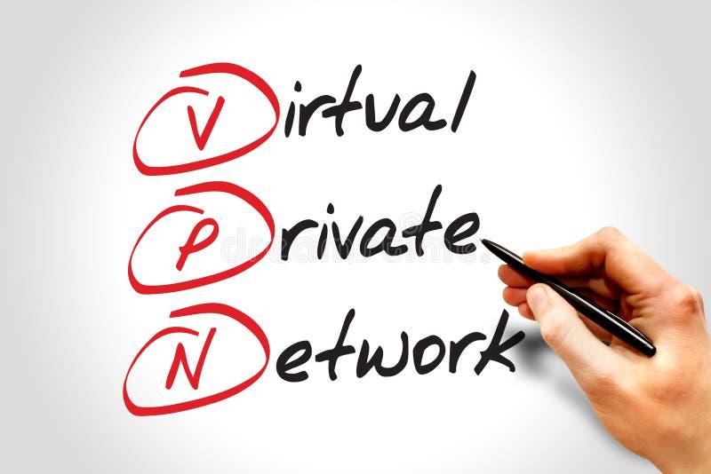 Faktiskt privat nätverk royaltyfri bild