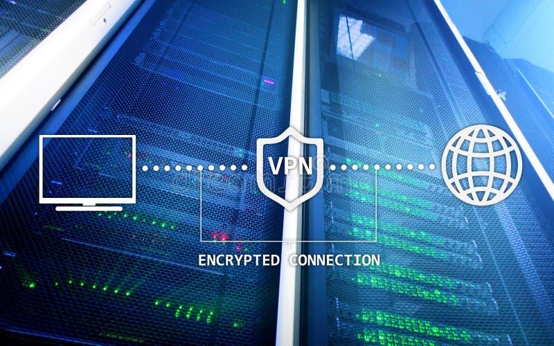 Faktiskt privat nätverk, VPN, datakryptering, IP-ersättning arkivfoton
