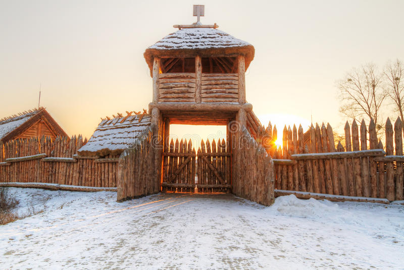 Download Faktoria Village In Pruszcz Gdanski Stock Image - Image of snow, historic: 23535451