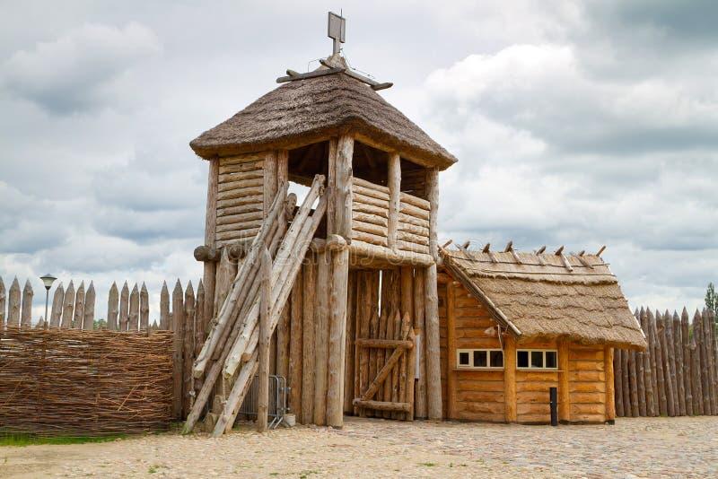 Faktory village in Pruszcz Gdanski royalty free stock photography