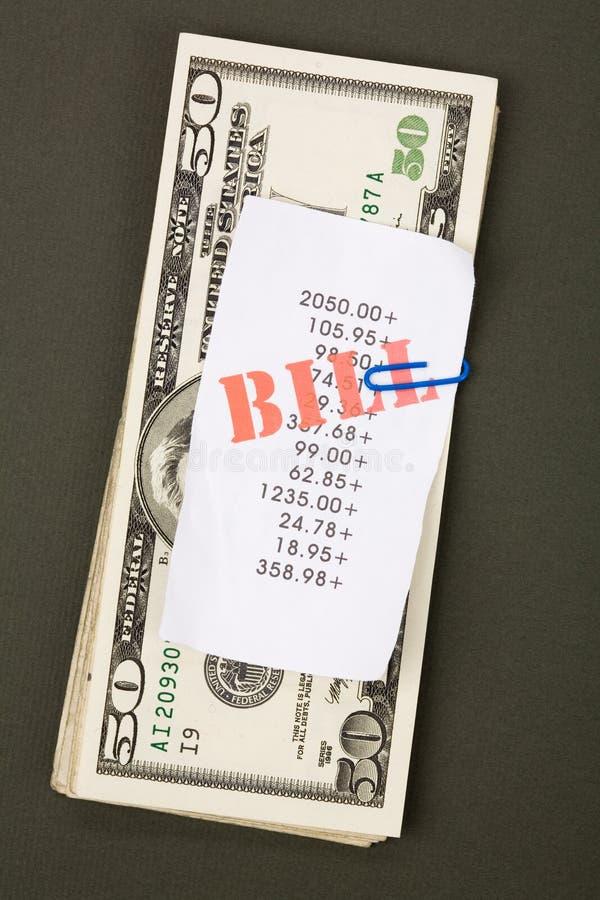Fakturerar Dollar Arkivfoto