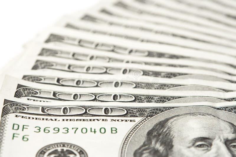 fakturerar dollar hundra fotografering för bildbyråer