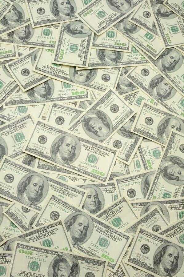 fakturerar dollar hundra en oss royaltyfria foton