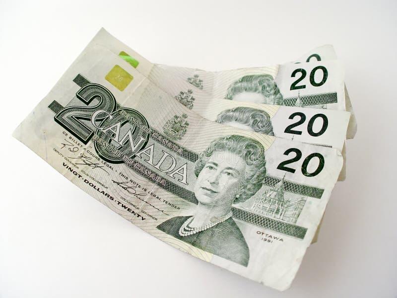 fakturerar dollar tjugo royaltyfria bilder