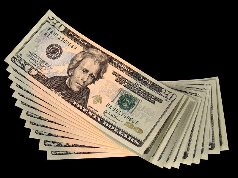 Fakturerar Dollar Tjugo Oss Arkivfoto