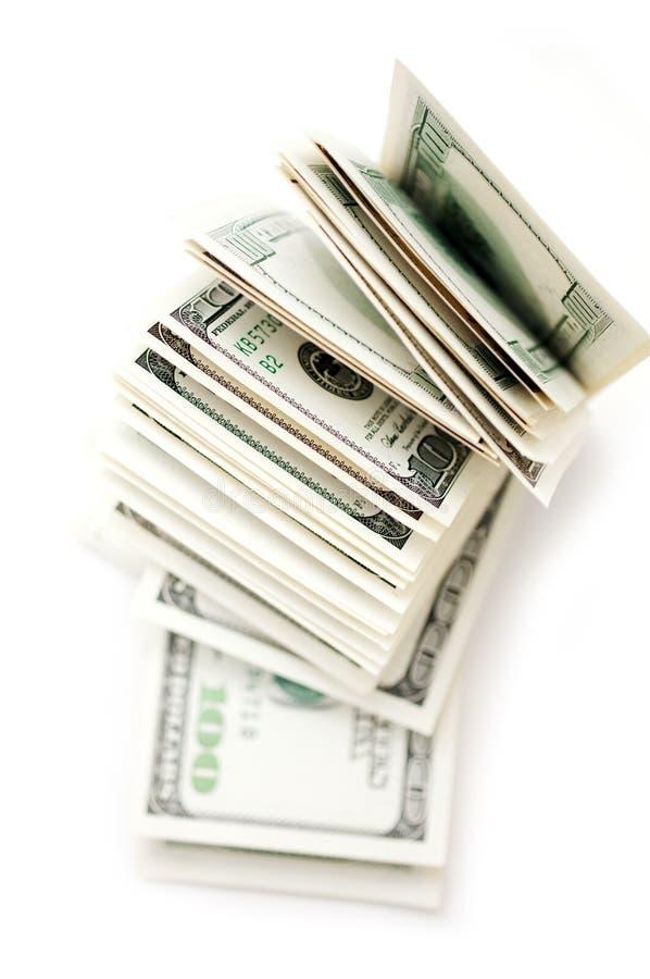 fakturerar dollaren isolerad white royaltyfria bilder