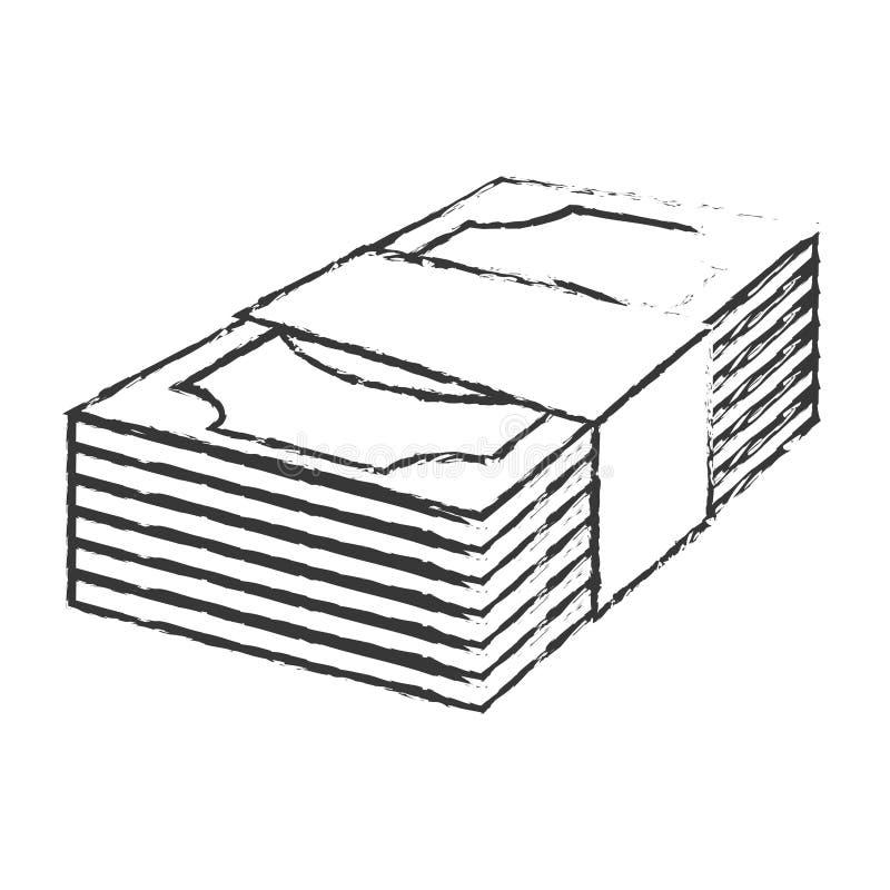 fakturerar dollarpengarsymbolen vektor illustrationer