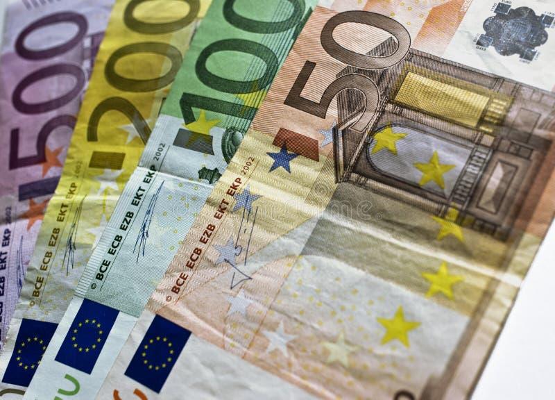 fakturerar euro arkivfoton