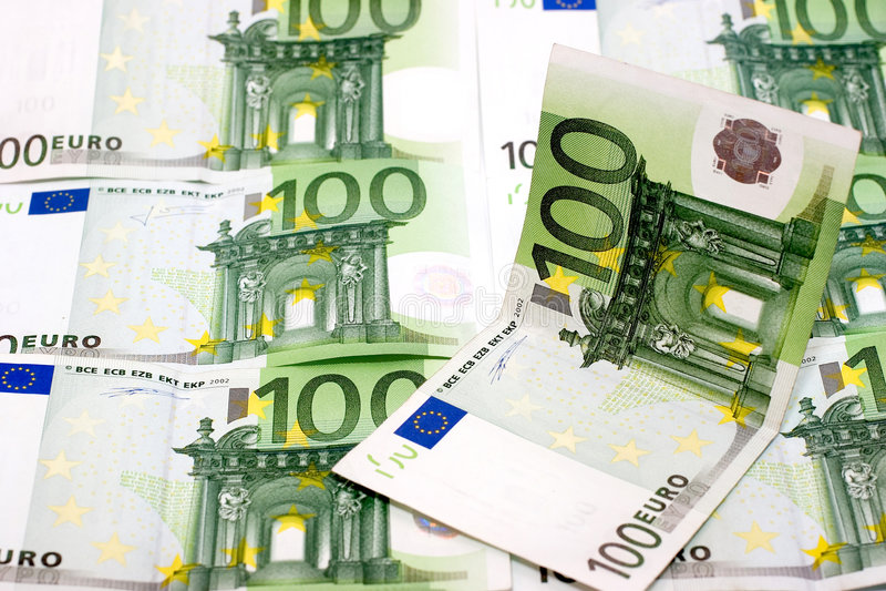 fakturerar europengar royaltyfria bilder