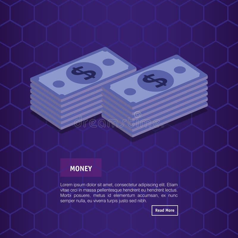 Fakturerar isometriska dollarpengar royaltyfri illustrationer