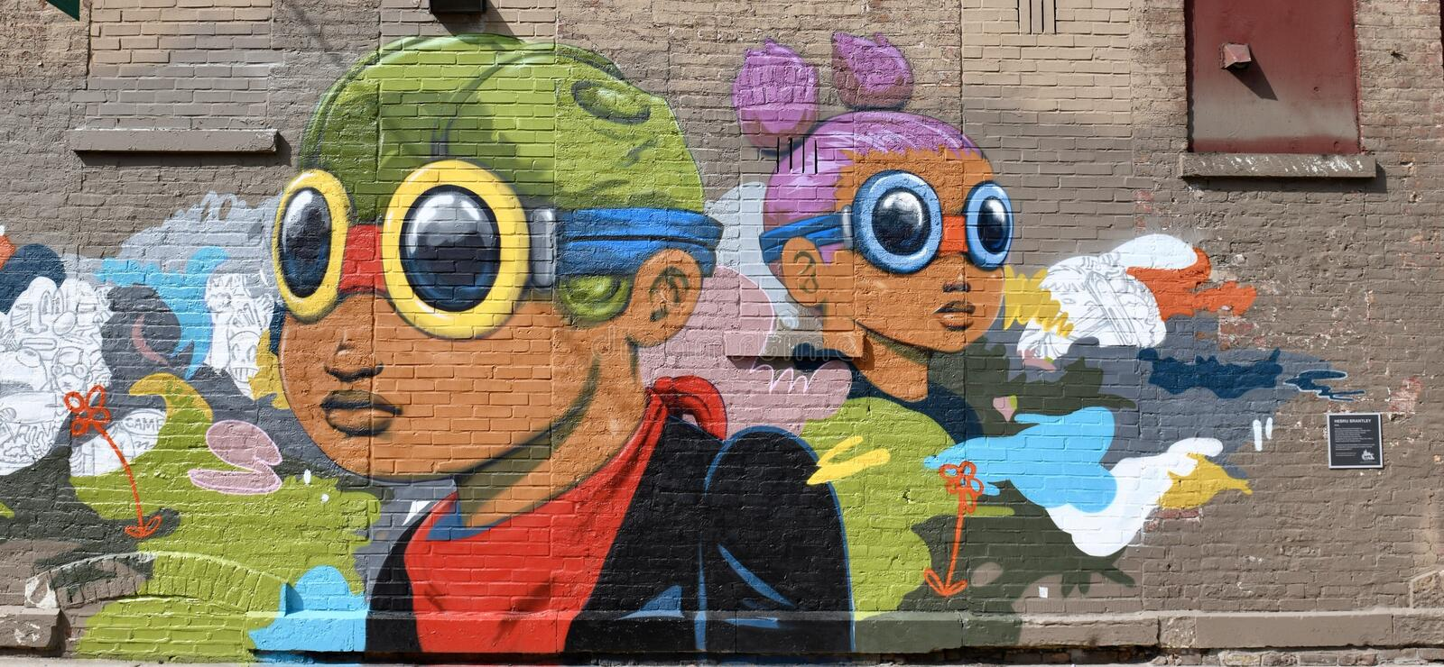 Wicker Park Brantley Mural. This is a Fal picture of a piece of public art titled: Wicker Park Mural, located in the Wicker Park neighborhood of Chicago royalty free stock photography