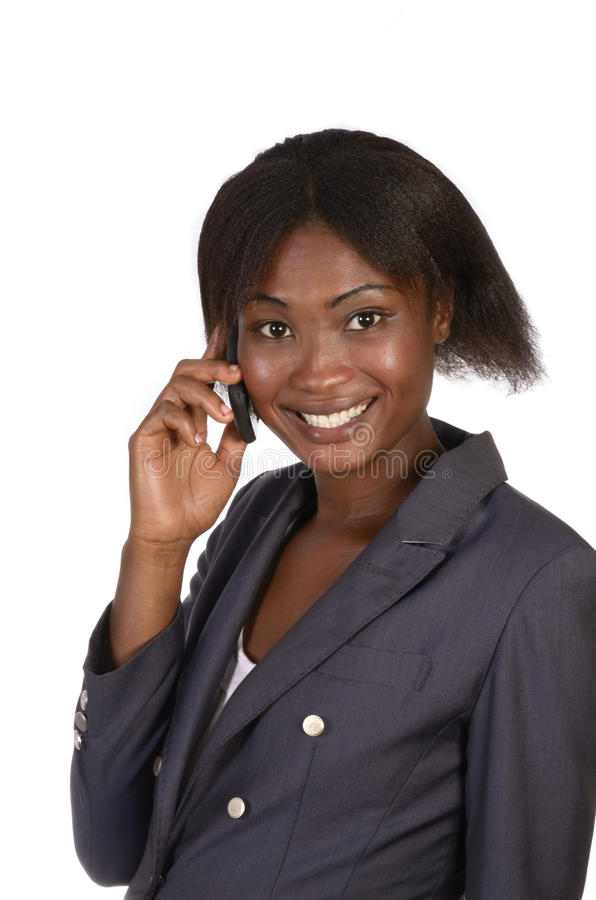 Fala africana da mulher de negócio foto de stock royalty free