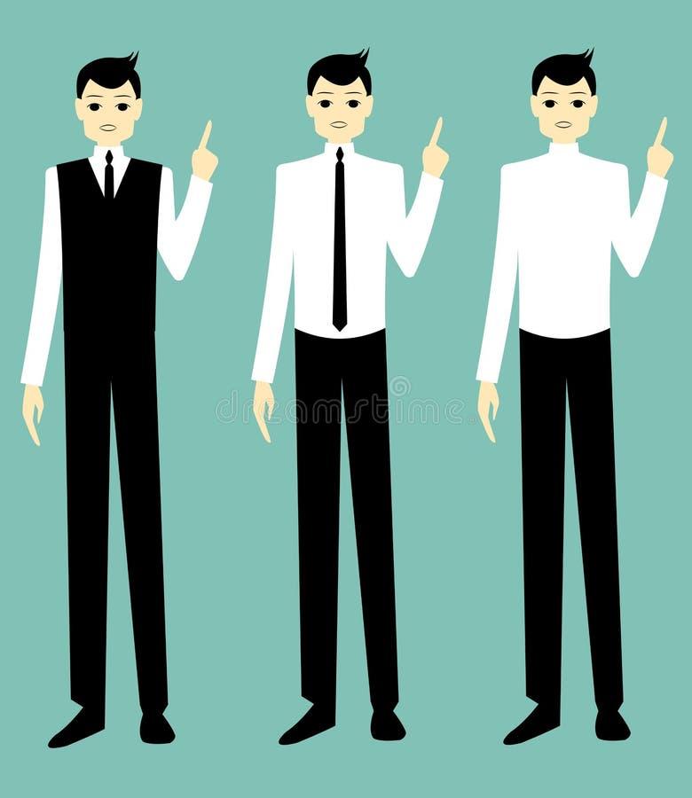 Fala considerável do homem de negócios dos desenhos animados fotografia de stock royalty free