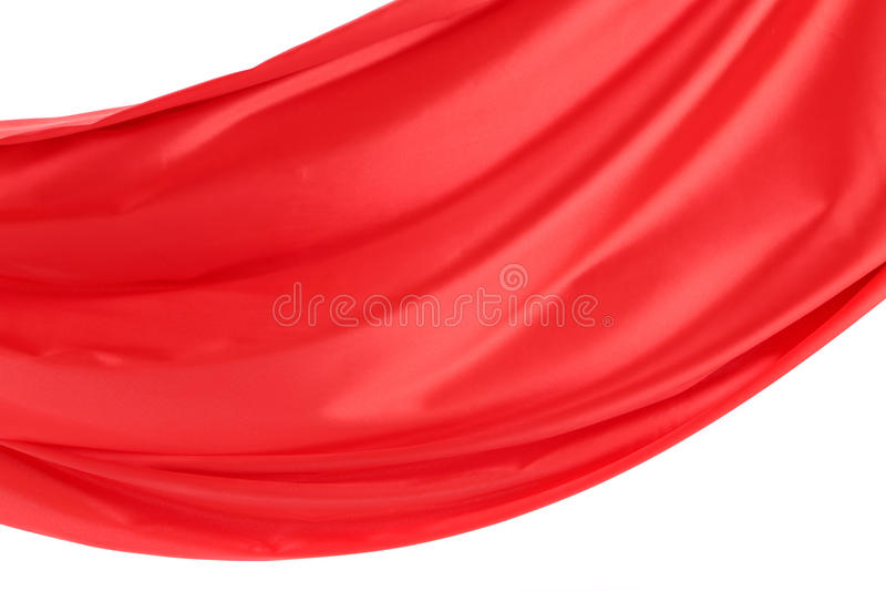 Fala czerwony atłas na białym tle. royalty ilustracja