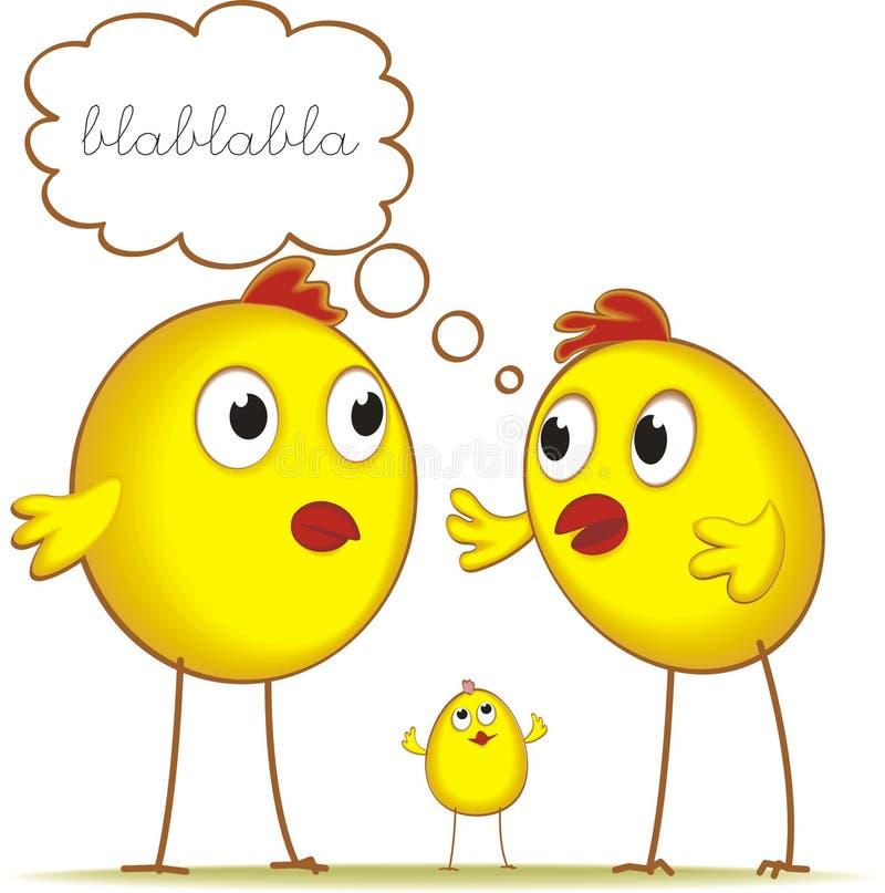 Fala das galinhas ilustração do vetor