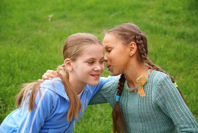 Fala das meninas do Preteen fotos de stock royalty free